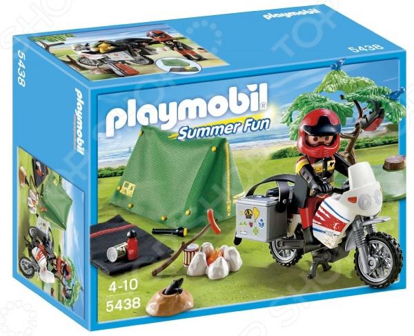 Набор игровой Playmobil «Каникулы: Мотоциклист и складная палатка»
