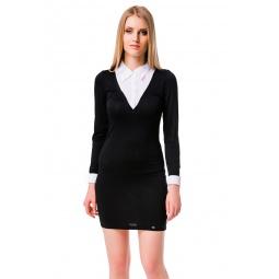 фото Платье Mondigo 8523. Цвет: черный. Размер одежды: 42