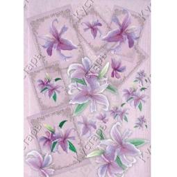 Купить Карта декупажная Кустарь «Лилии с рамочками»