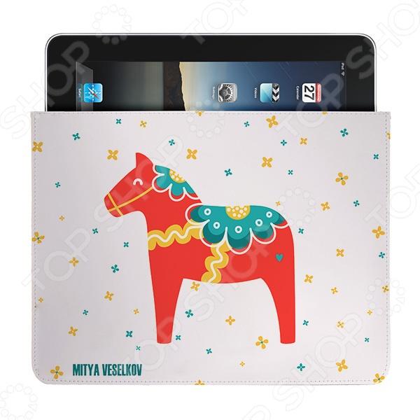 Чехол для iPad Mitya Veselkov «Скандинавская лошадка» чехлол для ipad iphone mitya veselkov чехол для ipad райский сад ip 08