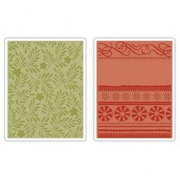 фото Форма для эмбоссирования Sizzix Textured Impressions Ветви, завитки и ленты
