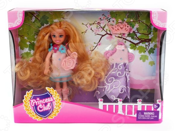 Набор игровой с куклой Shantou Gepai Princess Club «Мой гардероб» KW20913 disney princess игровой набор с куклой easy styles ариэль
