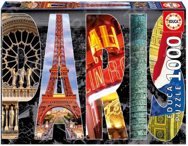 Пазл 1000 элементов Educa «Париж»Пазлы (501–1000 элементов)<br>Пазл 1000 элементов Educa Париж великолепное хобби, которое отлично подойдет и детям, и взрослым. Это увлекательное занятие позволит провести свободное время с пользой и в простой форме развить внимательность к незначительным деталям и мелочам, сообразительность, мелкую моторику рук, усидчивость, образность, логическое мышление и терпеливость. Собрать яркий, красочный стилизованный рисунок-коллаж с основными достопримечательностями и символикой Парижа не составит труда, ведь все детали интуитивно понятны и довольно легко узнаваемы. За счет своевременных и передовых технологий нанесения рисунка, изображение на пазле не будет выгорать или терять свою яркость долгое время. Качественный прессованный картон позволяет собирать и разбирать пазл множество раз.<br>