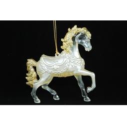фото Елочное украшение Crystal Deco «Лошадь»