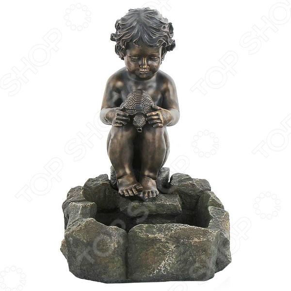 Фонтан садовый GREEN APPLE GWXF01188 «Мальчик и черепаха»