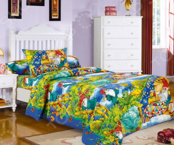 Детский комплект постельного белья Бамбино «Гномики»