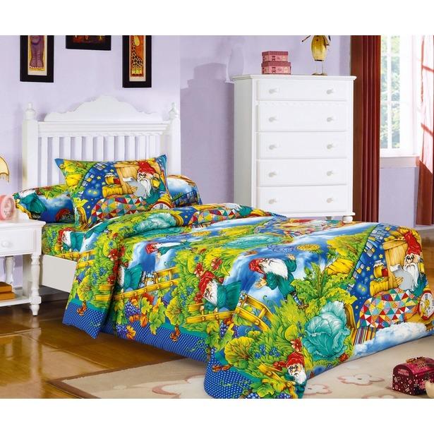 фото Детский комплект постельного белья Бамбино «Гномики»
