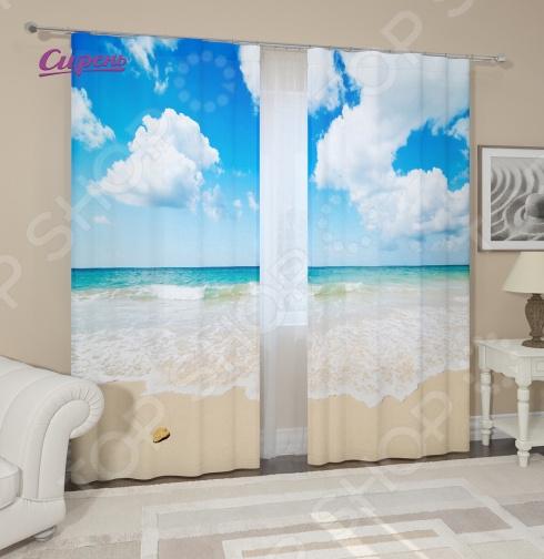 Фотошторы Сирень «Карибское море»Фотошторы<br>Фотошторы Сирень Карибское море это яркие шторы, которые помогут преобразить интерьер вашего дома! Вне зависимости от того, в какой комнате вы решили разбавить скучный дизайн, эти шторы изменят его до неузнаваемости. Даже если вы не хотите полностью изменять дизайн всей комнаты, то попробуйте добавить яркий акцент в виде штор. В производстве фотоштор используется высококачественный полиэстер, благодаря новым технологиям и краскам, которые не выгорают на солнце, эти шторы будут радовать вас долгие годы. Крепление происходит на шторную ленту под крючки. Стирать необходимо при температуре 30 градусов, после чего можно погладить, но при температуре не более 150 градусов.<br>