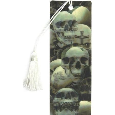 Купить 3D-закладка для книг Липуня «Черепа»