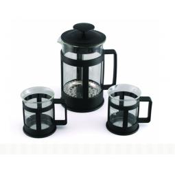 фото Набор: чайник заварочный с поршнем и 2 кружки для кофе Gipfel GLACIER-SEVILLA 7440
