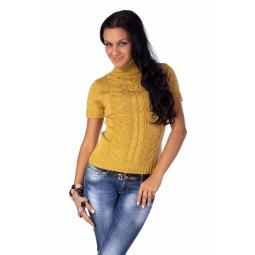 фото Свитер вязаный Mondigo 9004. Цвет: горчичный. Размер одежды: 42