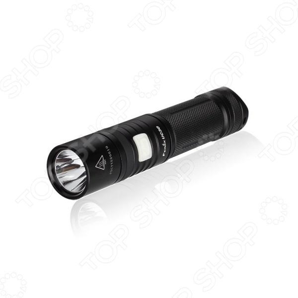 Фонарь аккумуляторный Fenix UC30Туристические фонари<br>Фонарь аккумуляторный Fenix UC30 - ручной фонарь, мощностью до 960 люмен. Предназначен для решения ежедневных задач, использования на даче, природе или на серьезном туристическом походе. Постоянная яркость фонаря обеспечена специальным механизмом цифровой стабилизации. Управляется при помощи кнопки, расположенной в боковой части фонаря. Имеет защиту от перегрева при работе с высокой мощностью. Аккумулятор можно заряжать при помощи обычного зарядного устройства или с помощью разъема micro-USB, не вынимая его из корпуса фонаря. Материал корпуса выполнен из сплава алюминия, который обеспечивает изоляцию фонаря от проникновения воды или пыли внутрь. Аккумулятор может работать от 1 часа 10 мин в режиме Turbo с яркостью 960 люмен, до 120 часов в режиме Low с яркостью 10 люмен.<br>