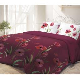 фото Комплект постельного белья Гармония «Маки». 1,5-спальный. Размер наволочки: 50х70 см — 2 шт