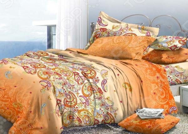 Комплект постельного белья La Vanille 576. 2-спальный2-спальные<br>Комплект постельного белья La Vanille 576 это незаменимый элемент вашей спальни. Человек треть своей жизни проводит в постели, и от ощущений, которые вы испытываете при прикосновении к простыням или наволочкам, многое зависит. Чтобы сон всегда был комфортным, а пробуждение приятным, мы предлагаем вам этот комплект постельного белья. Приятный цвет и высокое качество комплекта гарантирует, что атмосфера вашей спальни наполнится теплотой и уютом, а вы испытаете множество сладких мгновений спокойного сна.  Комплект выполнен из ткани, состоящей на 100 из хлопка, и обладает следующими преимуществами:  Мягкий и приятный на ощупь материал отличается высокой гигроскопичностью и хорошо пропускает воздух.  Рисунок нанесен на ткань с применением современных технологий печати, что делает его не только выразительным, но и долговечным.  Натуральный материал гипоаллергенен и безопасен для здоровья.  Особое переплетение нитей ткани повышает устойчивость к легким механическим повреждениям.  Тип ткани поплин. Своими свойствами он напоминает бязь, однако на ощупь более мягкий и гладкий. Секрет заключается в использовании более тонких нитей, расположенных плотно друг к другу. Перед первым применением комплект постельного белья рекомендуется постирать. Перед этим выверните наизнанку наволочки и пододеяльник. Для сохранения цвета не используйте порошки, которые содержат отбеливатель. Рекомендуемая температура стирки 30 С без использования кондиционера или смягчителя воды. Обновите свою кровать таким комплектом постельного белья, и интерьер вашей комнаты заиграет новыми красками.<br>