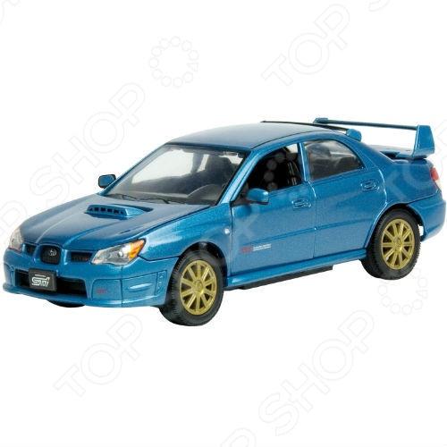 Модель автомобиля 1:24 Motormax Subaru Impreza WRX STI real carbon fiber car outside rearview mirror caps cover for subaru forester legacy outback vx 2012 2013y impreza wrx sti 9 11