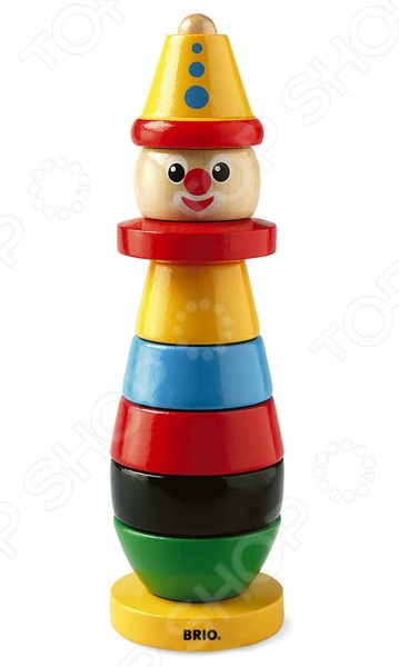 Игрушка-пирамидка Brio «Клоун» каталки игрушки brio вертолет
