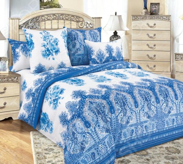 Комплект постельного белья Белиссимо «Гжель-1» комплекты белья linse комплект белья
