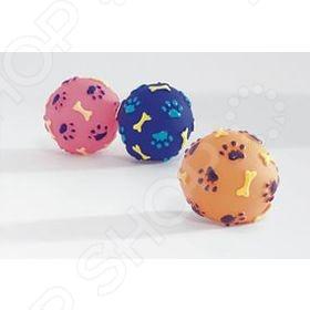 Игрушка для собак Beeztees «Мячик с принтом: косточки и лапы». В ассортименте
