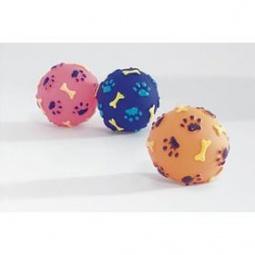 фото Игрушка для собак Beeztees «Мячик с принтом: косточки и лапы». В ассортименте