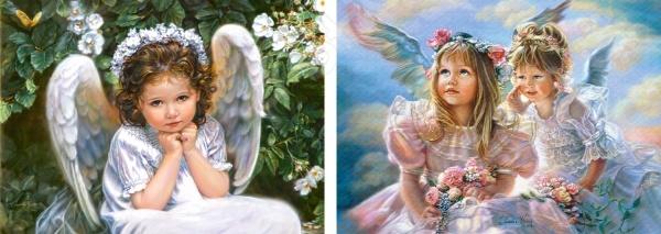 Набор пазлов 2 в 1 Castorland «Ангелы»Другие виды пазлов<br>Набор пазлов 2 в 1 Castorland Ангелы - нежный пазл, с изображениями ангелочков. Такая головоломка позволит приятно провести время как взрослому, так и ребенку, с пользой для себя. Пазл развивает логическое мышление и моторику рук. Готовый пазл можно будет разместить на стене, в любой комнате. Необычный дизайн оживит любой интерьер. Изготовлен набор пазлов из качественного материала. Такой набор пазлов станет отличным подарком для близкого человека.<br>