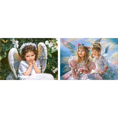 Купить Набор пазлов 2 в 1 Castorland «Ангелы»