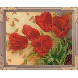Купить Набор для вышивания бисером Светлица «Тюльпаны»
