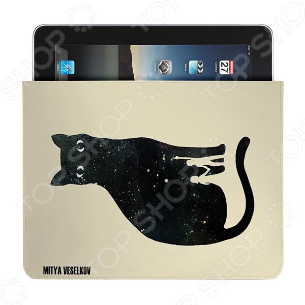 Чехол для iPad Mitya Veselkov «Космическая кошка» чехлол для ipad iphone mitya veselkov чехол для ipad райский сад ip 08