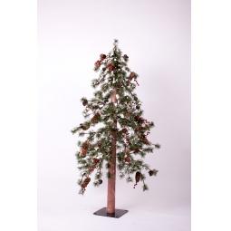 Купить Ель искусственная Crystal Trees «Гренландия с ягодами и шишками»