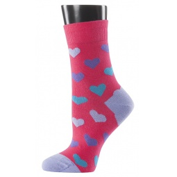 фото Носки женские Teller Hearts. Цвет: розовый