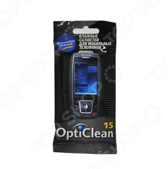 Набор салфеток влажных очищающих для мобильных телефонов Авангард OC-48176 Opti Clean набор салфеток влажных антибактериальных авангард sf 70900