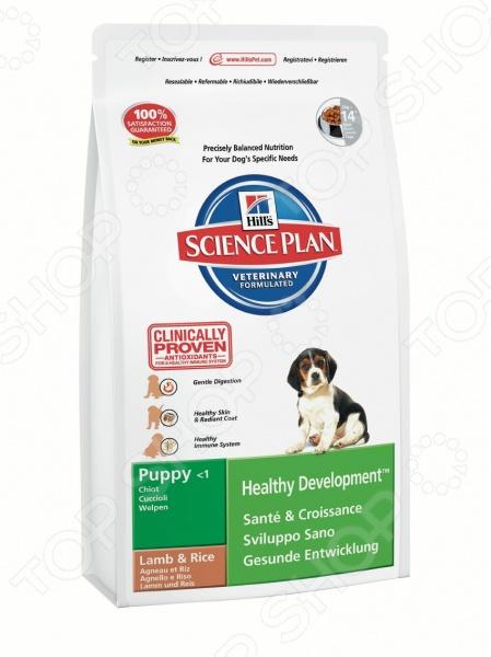 Корм сухой для щенков средних пород Hill's Science Plan Puppy Medium с ягненком и рисом