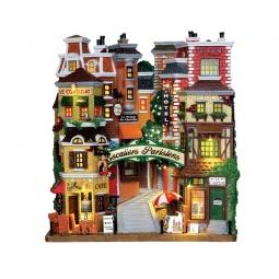 фото Фигурка керамическая Lemax «Фасад: Парижские ступени»