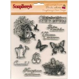 фото Набор штампов прозрачных ScrapBerry's Садовая коллекция-1