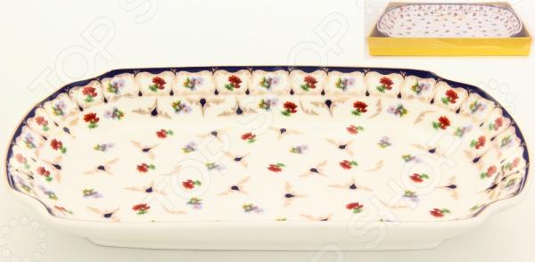 фото Блюдо для слоеных салатов Elan Gallery «Цветочек», Салатницы