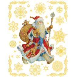 фото Пленка декоративная для окна Феникс-Презент 31258 «Дед Мороз с мешком подарков»