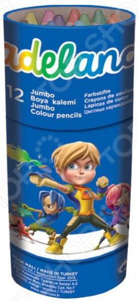 Набор карандашей цветных ADEL Jumbo Неха 211-9520-100