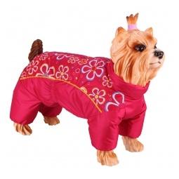 Купить Комбинезон-дождевик для собак DEZZIE «Йоркширский терьер» №3. Цвет: красный
