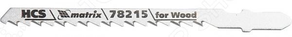 Пилки для электролобзика MATRIX Professional 78215Пилки для лобзиков<br>Пилки для электролобзика MATRIX Professional 78215 применяются для распила древесины, ДСП, МДФ, фанеры. Комплект из трех пилок обеспечивает быструю и качественную обработку заготовок, используется для фигурного, нормального и обратного реза по материалам различной плотности и толщины. Пилки изготовлены из высокопрочной углеродистой стали, имеют твердость 48-52 HRC.<br>