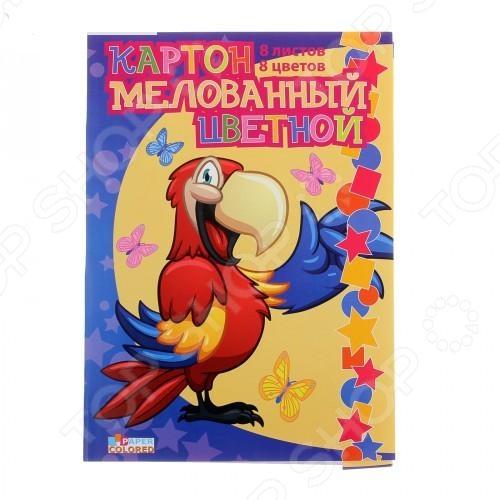 Набор картона цветного Бриз «Попугай»