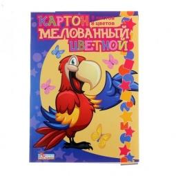 Купить Набор картона цветного Бриз «Попугай»