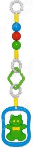 Игрушка подвесная Стеллар на коляску 01902Погремушки. Подвески<br>Игрушка подвесная Стеллар на коляску 01902 отличный выбор для вашего крохи. Модель снабжена пластиковым кольцом, с помощью которого, ее можно прикрепить к кроватке, люльке или коляске. Подобные игрушки способствуют развитию мелкой моторики рук, цветового восприятия и координации движений. Подвеска выполнена в ярких красочных цветах из высококачественных нетоксичных материалов. Ее края закруглены во избежание травмирования ребенка. Предназначено для детей в возрасте от 0 месяцев.<br>