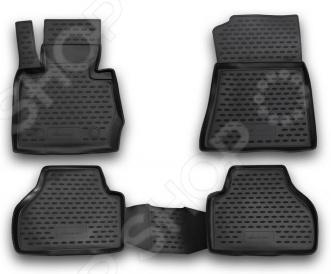 Комплект ковриков в салон автомобиля Novline-Autofamily BMW X3 2010Коврики в салон<br>Комплект ковриков Novline Autofamily BMW X3 2010 прекрасно дополнит салон вашего автомобиля. Многие автовладельцы довольно щепетильно относятся как к внешнему, так и внутреннему состоянию своих железных коней , поэтому для них важно, чтобы салон машины был чист и ухожен. Однако сохранять чистоту довольно сложно, ведь достаточно пройти дождю или снегу, как внутрь попадает пыль, грязь и влага. Первыми удар на себя принимают коврики. Несмотря на свою незаметность, они выполняют большую роль в поддержании порядка и сохранении первоначального состояния пола салона. Комплект Novline Autofamily BMW X3 2010 идеально подходит для данной марки автомобиля, т.к. проектирование ковриков происходит при помощи компьютера. Материалом изготовления служит полиуретан, который обладает рядом уникальных свойств. Он устойчив к значительным перепадам температур, нейтрален к агрессивному воздействую различных химических сред, эластичен и экологически безопасен. Структура материала обеспечивает превосходный противоскользящий эффект. Для еще лучшей фиксации предусмотрена система креплений. Стоит также отметить, что форма передней части водительского ковра, уходящая под педаль акселератора, исключает нештатное заедание педалей.<br>