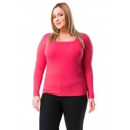 фото Кофта Mondigo XL 7014. Цвет: ярко-розовый. Размер одежды: 52