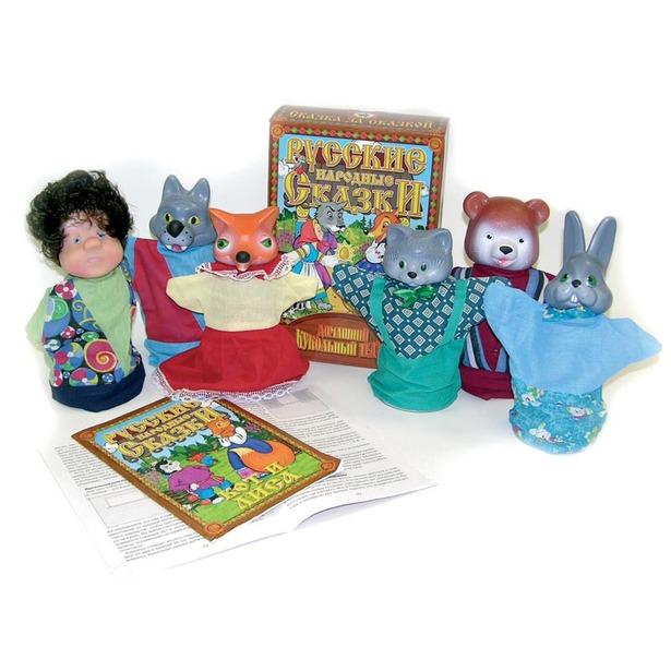 фото Набор для кукольного театра Русский стиль «Кот и Лиса»