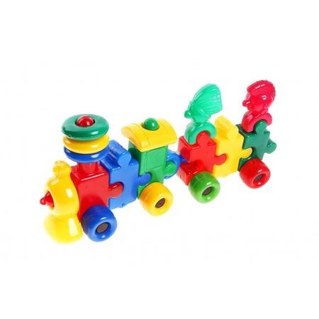 Купить Игрушка развивающая для малыша Строим вместе «Паровоз с вагоном и индейцами». В ассортименте