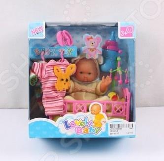Пупс с аксессуарами Lovely Baby 1707303 lovely striped rompers для baby cotton baby girl одежда мальчик костюм для пижамы 1 3 6 9 месяцев с длинным рукавом весна осень