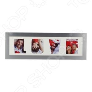 Фоторамка Image Art 6028/4-4S фоторамка image art 6022 2 4s двойная серебро