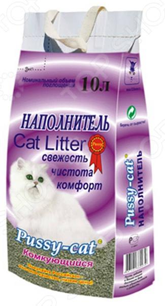Наполнитель для кошачьего туалета Pussy-cat комкующийся