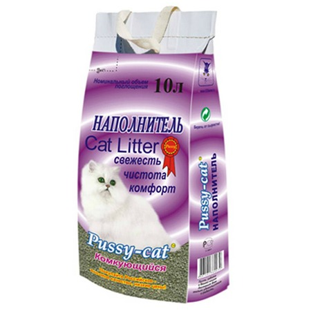Купить Наполнитель для кошачьего туалета Pussy-cat комкующийся