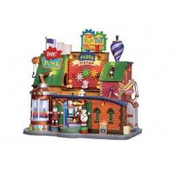 фото Домик керамический Lemax «Фабрика игрушек»